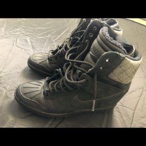 Nike Dunk Sky Hi Sneaker boot Wedge Winter Black